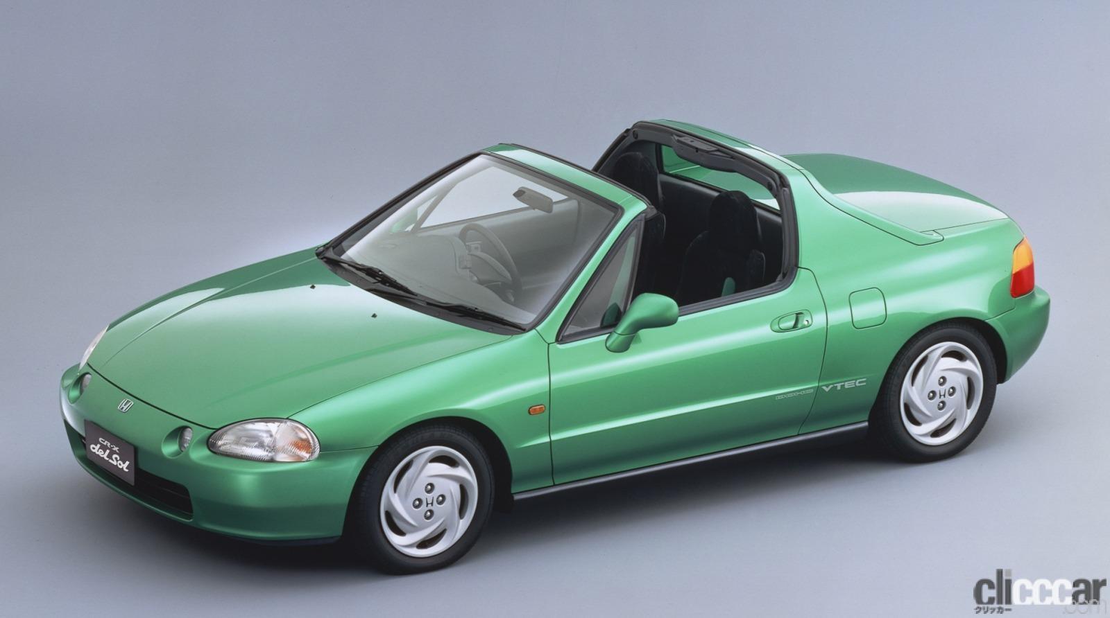 「ホンダ CR-Xデルソルが放つ南欧の光と風で、カタチも気分も変わる【ネオ・クラシックカー・グッドデザイン太鼓判「個性車編」第11回】」の1枚目の画像
