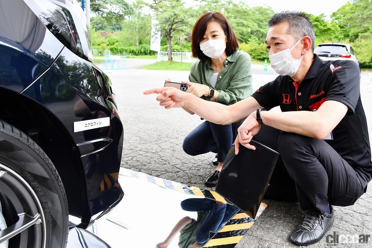 「ホンダアクセスの「フィットe:HEV Modulo X」は空力でここまでやる!飯田裕子が驚いたエアロパーツの魔法とは?【試乗】」の31枚目の画像