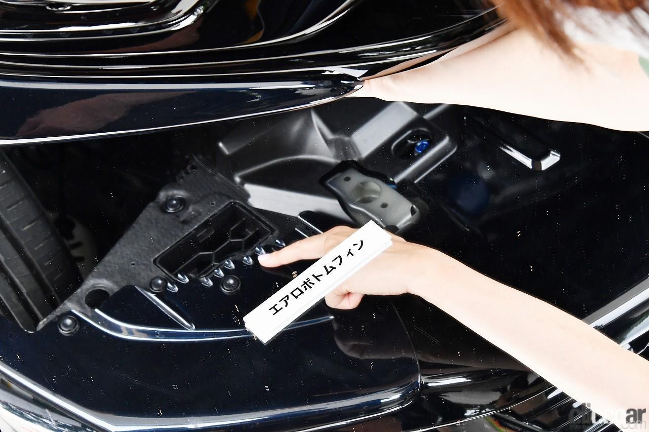 「ホンダアクセスの「フィットe:HEV Modulo X」は空力でここまでやる!飯田裕子が驚いたエアロパーツの魔法とは?【試乗】」の1枚目の画像