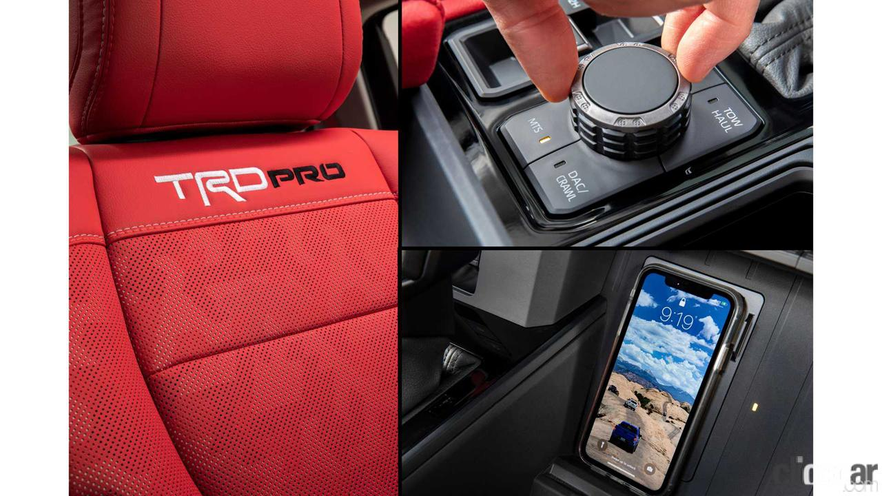 「エンジンは3.5L V6か?トヨタ タンドラ次期型、車内を先行公開。「TRD Pro」シートも奢る」の1枚目の画像