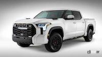 エンジンは3.5L V6か?トヨタ タンドラ次期型、車内を先行公開。「TRD Pro」シートも奢る - 2022-toyota-tundra-trd-pro-teaser-5