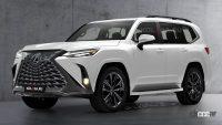 公開間近! レクサス「LX600」次期型、テールライトは新型NXと同じ? - Next-Gen-Lexus-LX-Rendering-1