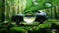 スバル初のEVクロスオーバー「ソルテラ」のティザーイメージが公開。トヨタ bZ4Xとの違いは? - subaru-solterra-water-drop