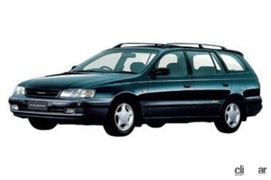 1992年発売の初代カルディナ、レガシィ・ツーリングの対抗モデル