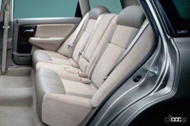1999年発売のアヴァンシア、高級車並みの室内空間、ゆとりの後席シート