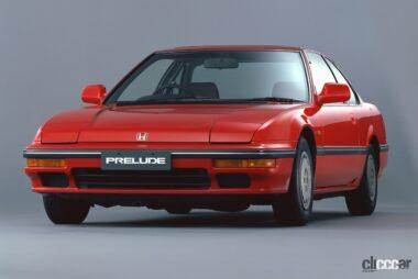 デートカーとして人気を集めた1987年発売の3代目プレリュード