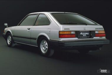 1981年発売の2代ア目アコードの後ろ外観、人気となったハッチバックスタイル