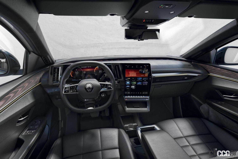 「ルノーの新型「メガーヌ E-Tech エレクトリック」の航続距離は約470km。薄型バッテリーによる理想的なドラポジと室内の広さが魅力!」の5枚目の画像
