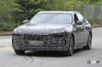 これがBMW 7シリーズ次世代スプリットヘッドライトだ! - Spy shot of secretly tested future car