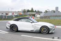 メルセデスAMG SL次期型、「サメ」のような攻撃的フロントマスクがついに露出! - Mercedes AMG SL63 5