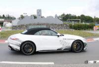 メルセデスAMG SL次期型、「サメ」のような攻撃的フロントマスクがついに露出! - Mercedes AMG SL63 7