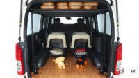愛犬と車中泊もOK!  ハイエースがベースのフレックス「ドッグバン」はワンちゃんとの旅が楽しい装備が満載 - 2110_FLEX_DOGVAN03