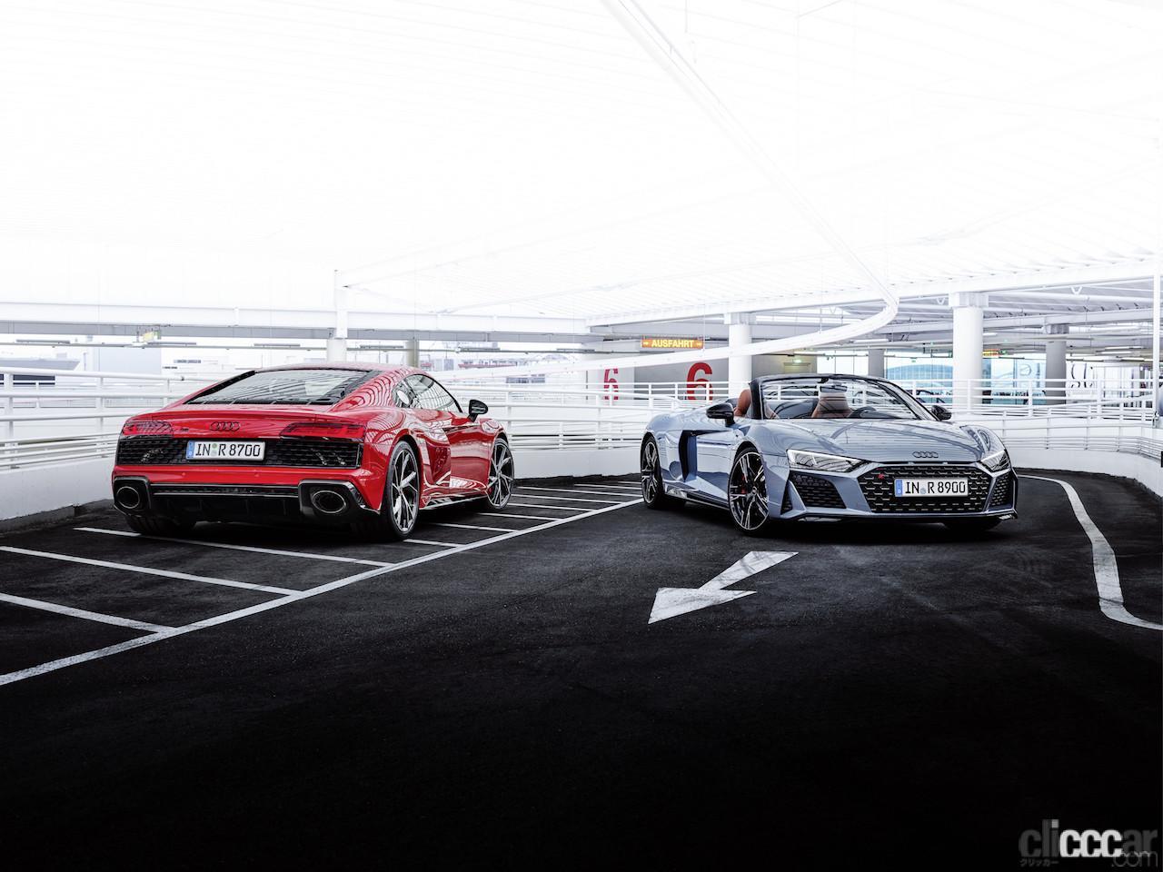 アウディR8の後輪駆動モデル「Audi R8 V10 performance RWD」は、クーペとスパイダーを設定