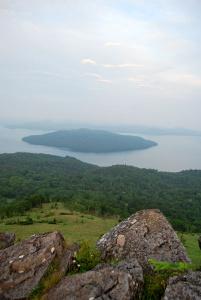 美幌峠展望所から見た屈斜路湖