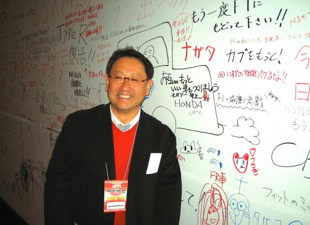 豊田章男社長・オートサロン2011-5