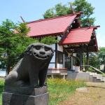 江部乙神社の笑う狛犬