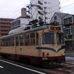 高知市「後免」行きの路面電車