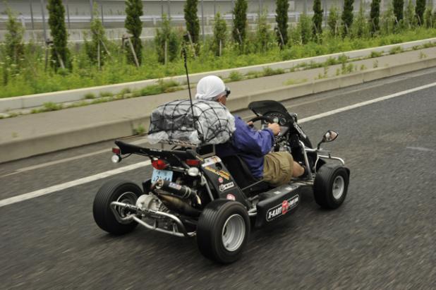 50cc原チャリカート\u201cX,Kart\u201dで東京→仙台380kmを走ってみた