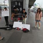 微笑みの国タイでは震災の募金があちこちで【東北関東大震災】 #jishin - バンコクモーターショー募金4