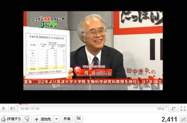 石油を作る藻の発見者、筑波大学大学院渡邉教授